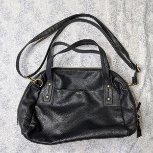5/$25 Relic black faux leather crossbody purse